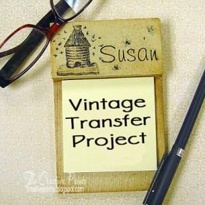Technique: Digital Stamp Home Decor Transfer Project