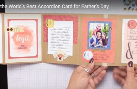 Project: Father's Day Accordion Card