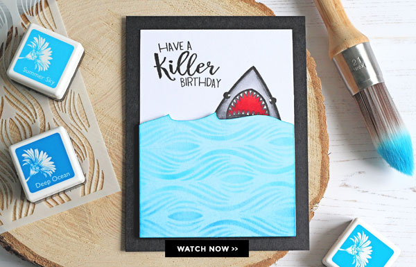 Project Funny Shark Birthday Card Stamping