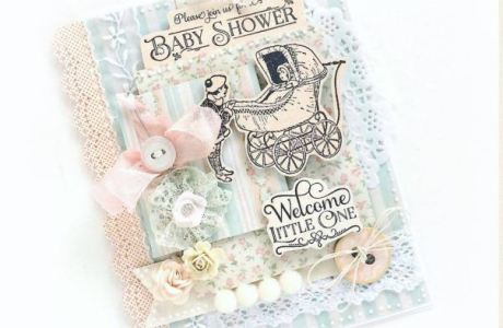 Project: Vintage Baby Shower Invitation