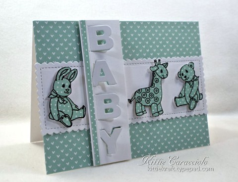Project: Baby Card with Hinged Letters