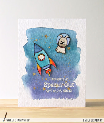 Project: Space Dog Late Birthday Card
