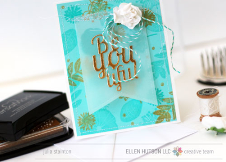Project: Floral Card with Specialty Inks