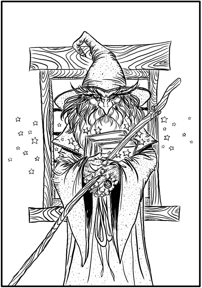 Download: Wizard Coloring Page