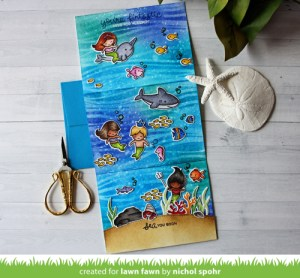 Project: Mermaid Tri-Fold Card