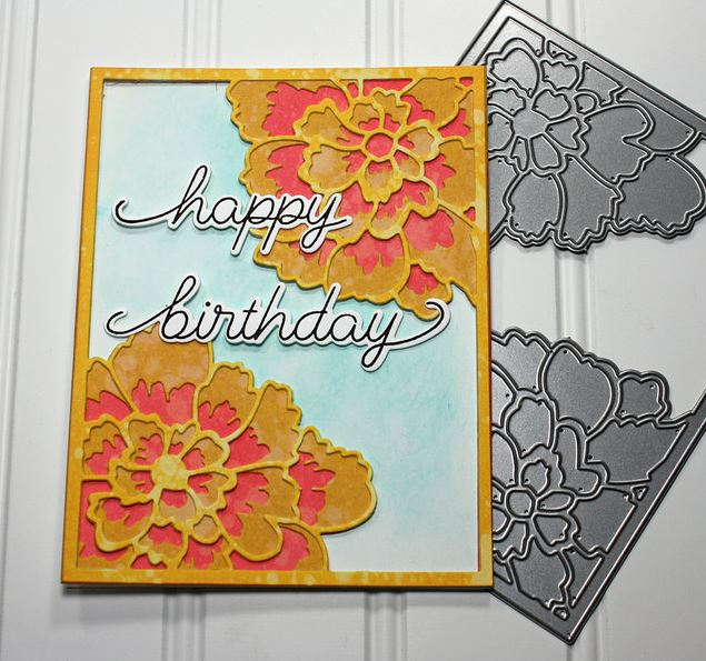 Project: Peony Card with Inked Cardstock