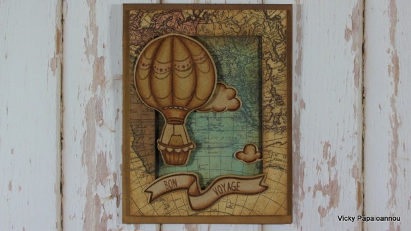 Project: Sepia Tone Hot Air Balloon Card
