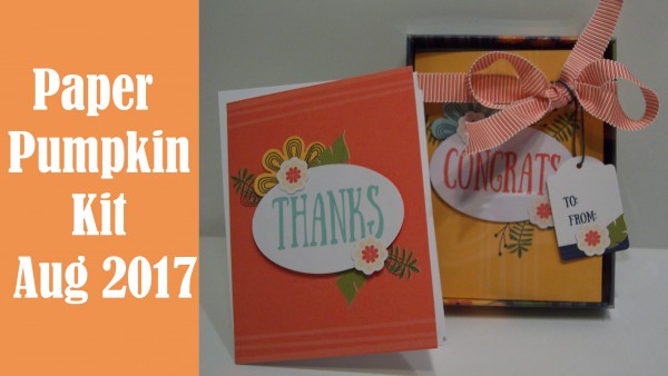 Giveaway and Review: Paper Pumpkin Kit for August 2017