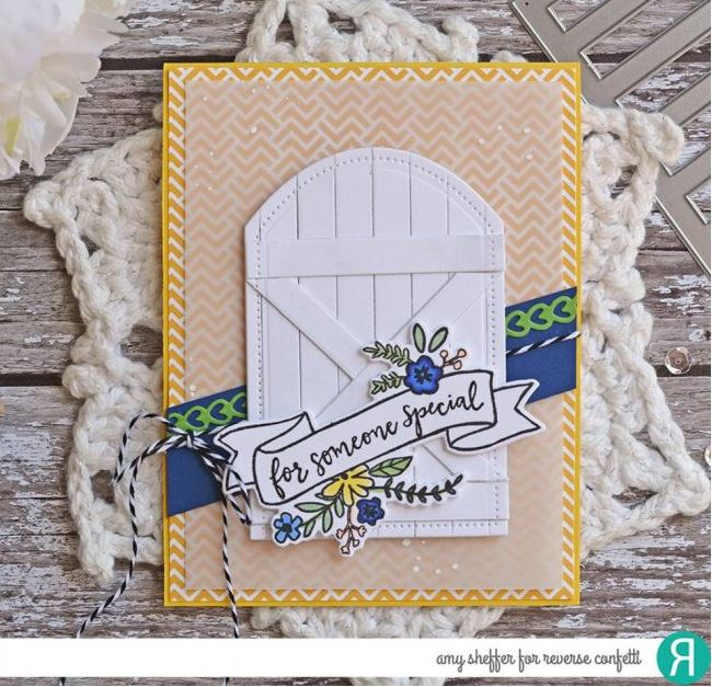 Tip: Make Your Own Garden Gate Shape with Dies