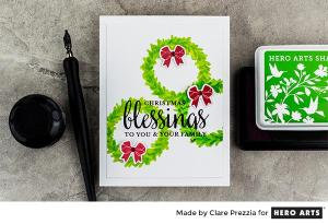 Project: Christmas Wreath Card with Sentiment Masking