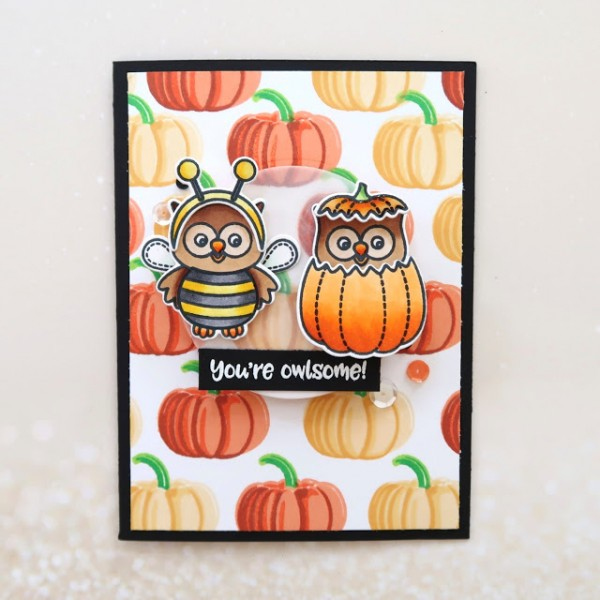 Project: Halloween Owls Card