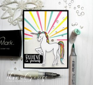 Project: Unicorn Sun Burst Card