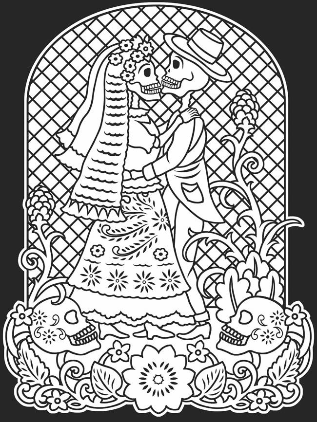 Download: Day of the Dead Coloring Page