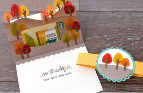Project: Fall Pop Up Gift Card Holder