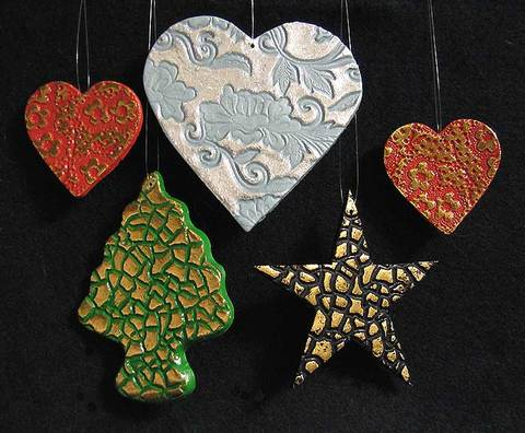 Project Stamped Clay Ornaments