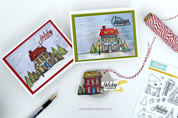 Technique: Colored Pencil Backgrounds for Winter Cards