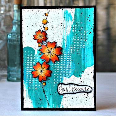 Technique: Paint Swiping Card Background
