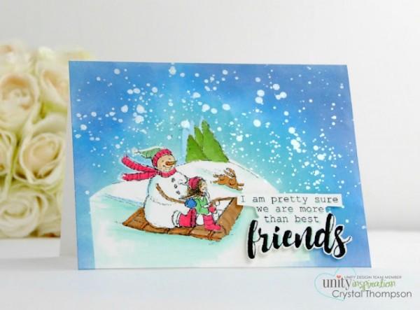 Project: Sledding Snowman Card