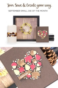 Project: Die Cut Leaves and Acorns Thank You Card
