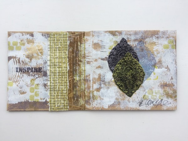 Project: Mini Envelope Journal with Stamps and Stencils