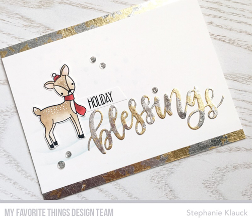 Tutorial: Holiday Card with Gilding Flakes