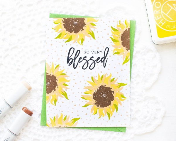 Project: Sun Flower Card with Layered Stamping