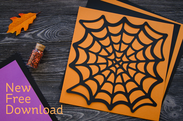 Download: Spider Web Die Cut