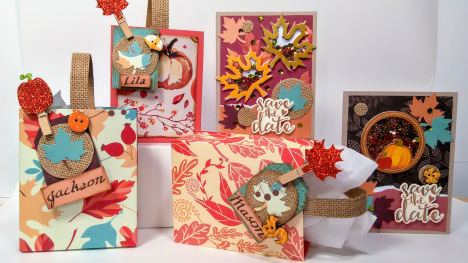 Projects: Thanksgiving Shaker Cards and Gift Bags