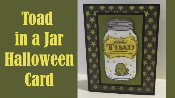 Project: Toad in a Jar Halloween Card