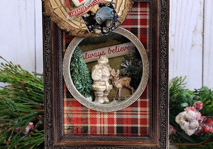 Project: Mixed Media Christmas Secret Santa Frame