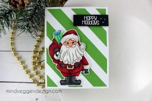 Project: Copic Colored Santa Card
