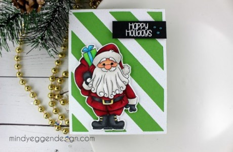 Project: Copic Colored Santa Card