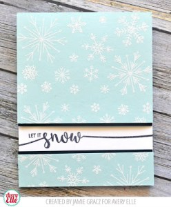 Project: Let it Snow Card