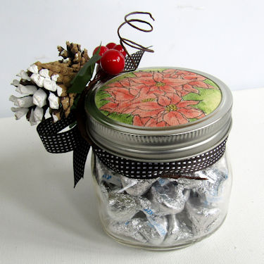 Project: Stamped Christmas Mason Jar Topper