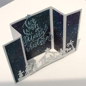 Tutorial: Double Gate Fold Nativity Card