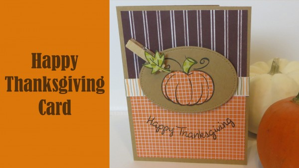 Project: Thanksgiving Card with Paper Piecing