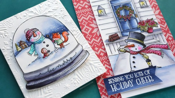Technique: Coloring Winter Scene Cards with Water Color Markers