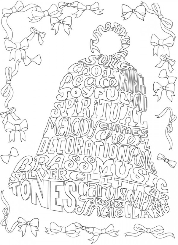 Download: Christmas Bell Coloring Page