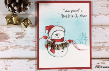 Project: Snowman Card with 3D Garland