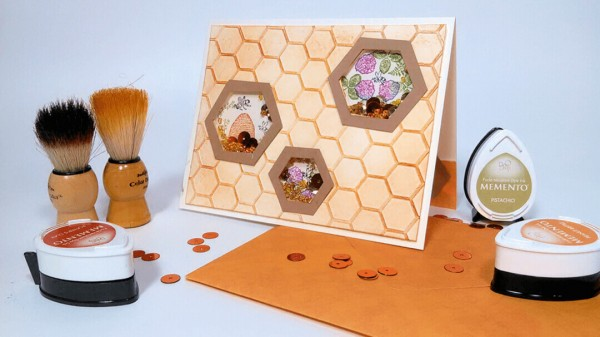 Project: Honeycomb Shaker Card with Multiple Windows