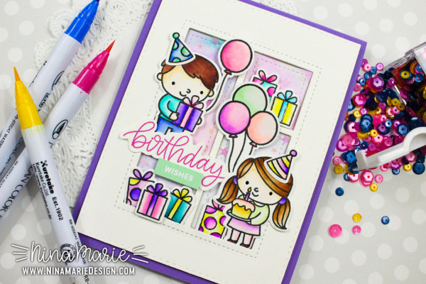 Projects: Water Colored Birthday Cards