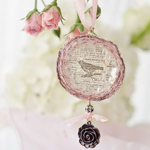 Project: Mixed Media Bird Nest Ornament