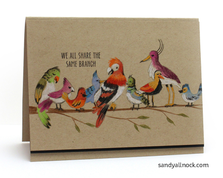 Project: Bright Birds Card with Colored Pencils