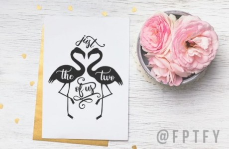 Download: Flamingo Couple Die Cut