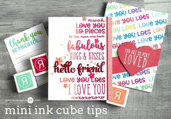 Tip: Make a Rainbow Ink Pad with Ink Cubes