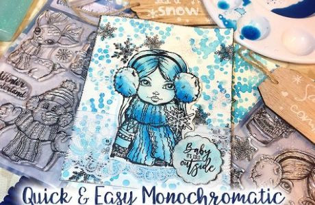 Tips: Monochromatic Winter Card