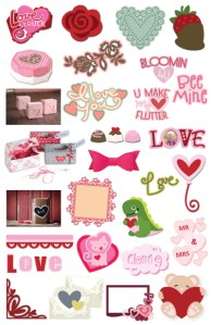 Download: 27 Valentine Die Cut Files
