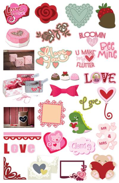 Download: 27 Valentine Die Cut Files
