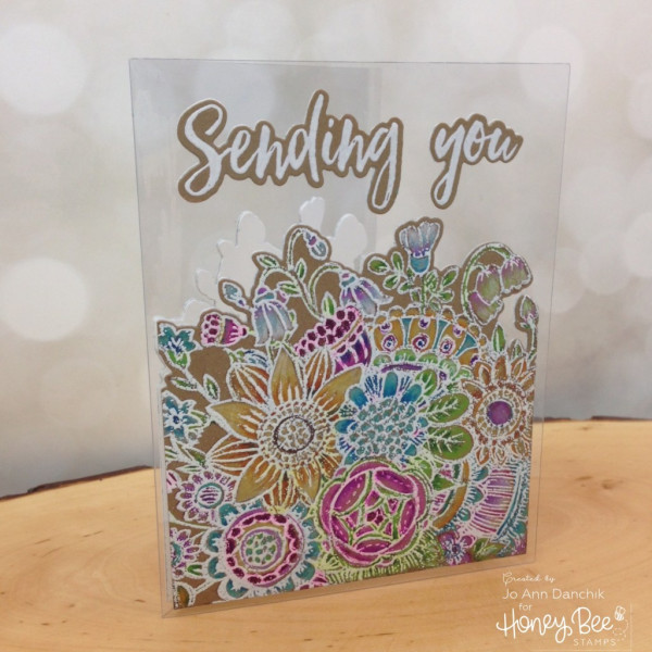 Project: Bold Flower Acetate Card