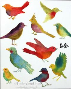 Tips: Multiple Techniques with the Same Bird Stamps